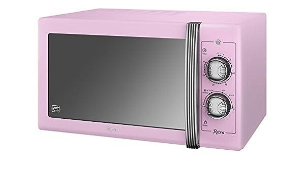 Swan productos Retro Manual microondas, rosa por Swan productos ...