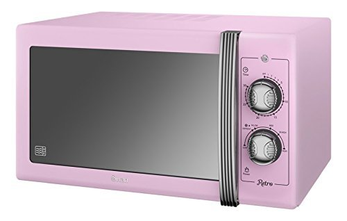 Retro Manual Microwave, Pink
