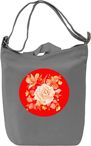 Yellow Flowers Borsa Giornaliera Canvas Canvas Day Bag| 100% Premium Cotton Canvas| DTG Printing|