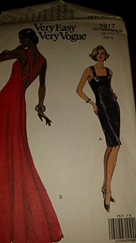 Very Easy Very Vogue sz 6-10 Evening Gown (Evening Gown Patterns Vogue)