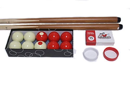 Game Room Guys Bumper Pool Kit inc 2 Cues, Ball Set and More