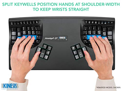 Kinesis Advantage2 QD Ergonomic Keyboard for Dvorak Typists (KB600QD)