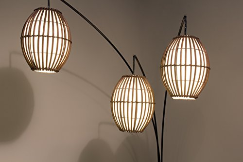 Adesso 4026-26 Maui Arc Lamp – 82-inch 3-Light Floor Lamp – Antique Bronze Finish Standing Lamp. Home Decor Lighting Fixtures