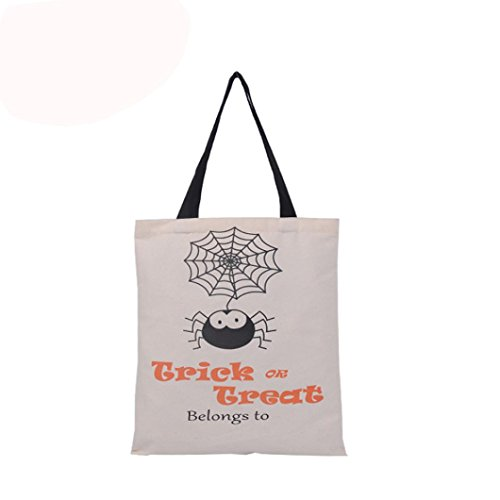 DRACLE Halloween Fashion Candy Bag Gift Bag Canvas Tote Casual Bags Shopping Bag Handbag (B 1) - Paper Bag Princess Dragon Costume