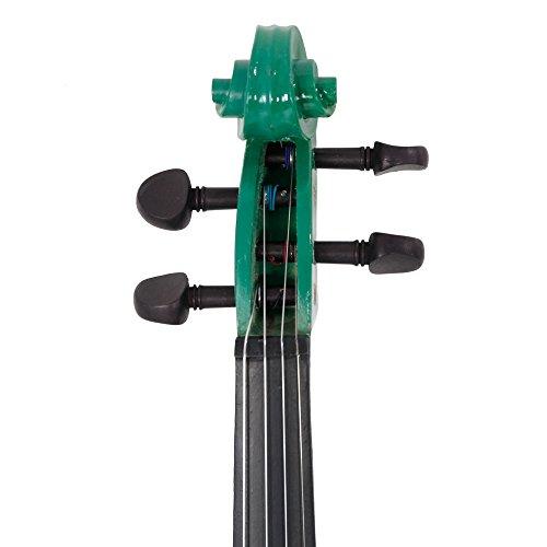 Lovinland 4/4 Acoustic Violin Green Beginner Violin Full Size with Case Bow Rosin by Lovinland (Image #4)