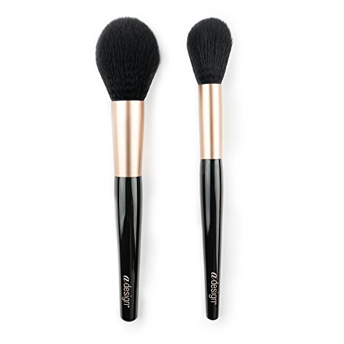 aDesign Professional 2 Piece Makeup Brush Kit  Powder Power Duo