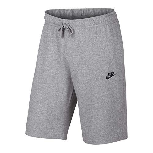 NIKE Mens Sportswear Jersey Club Shorts,Birch Heather/Black,1X Big