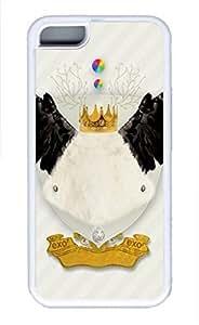 iPhone 5c case, Cute King Bird iPhone 5c Cover, iPhone 5c Cases, Soft Whtie iPhone 5c Covers