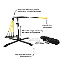 SKLZ Hurricane Category 4 Batting Trainer, Solo Swing Trainer for Baseball and Softball, Tee Practice or Dynamic Moving Target, Adjustable Height for any Player or Ball Position, Develop Swing Power - JS10-000