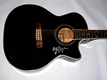 steve azar signed 12 string acoustic electric guitar aftal psa dna certified. Black Bedroom Furniture Sets. Home Design Ideas