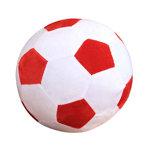 Xuanhemen Cartoon Soccer Ball Pillow Stuffed Plush Baby Football Soccer Sports Toy Gift for Toddler Kids Adults
