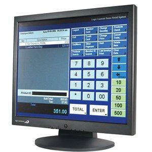 (logic controls le1017 17in lcd resistive touch screen usb vga spkr black)