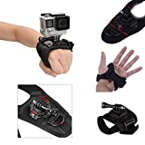 Wrist Hand Strap,Lovewe 360 Degree Rotation Glove Style Band Wrist Strap Mount Strip Belt with Screw for GoPro Hero 6 Hero 5 Black Session AKASO DBPOWER APEMAN EKEN ODRVM Xiaomi Yi 4K and All Kinds of