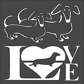 Basset Hound Dog Mylar AIRRUSH Painting Wall Art Stencil