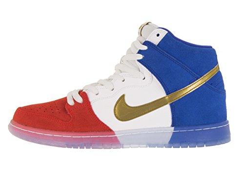 Nike Dunk High Premium Sb, Zapatillas de Deporte para Hombre challenge red/mtllc gld-gm ryl