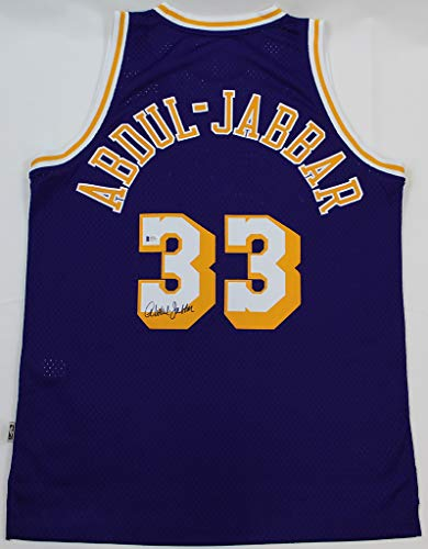 Kareem Abdul-Jabbar Autographed Purple Los Angeles Lakers Jersey - Hand Signed By Kareem Abdul-Jabbar and Certified Authentic by Beckett - Includes Certificate of Authenticity