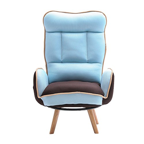 Folding Chairs ZR- Lazy Sofa Breastfeeding Chair Breast Chair Maternity Chair Fashion Casual Sun Loungers (Color : Sky blue)