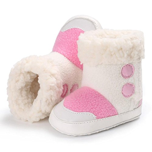 Ouneed® Krabbel schuhe , Herbst Winter Baby Boys Soft Sole Booties Schnee Stiefel kleinkind kleinkinder newborn Erwärmung Schuhe Pink