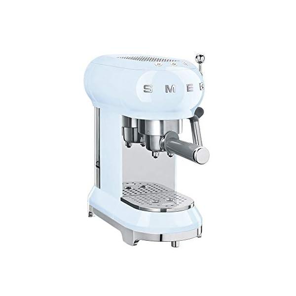 Smeg ECF01PBUS Espresso Machine, Pastel Blue 1