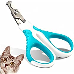 Cat Nail Clippers Trimmer for Small Animals Safe Professional Sharp Angled Blade - Non-Slip Handle - Cat Dog Nail Clippers Scissors - Easy At Home Grooming