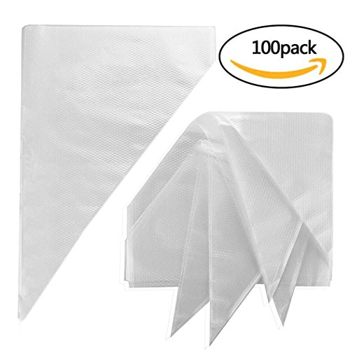 Pastry Bags,Yookat 100Pcs 12 Inch Disposable Icing Decorating Bags Baking Supplies for Cupcakes Cookies Candy Pastry Cake Piping Bags Large Size Bakeware Tools Fit for all Sized Tips Kit and Couplers