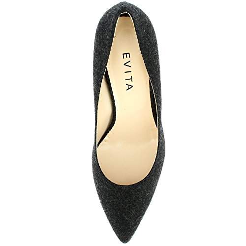 Noir Feutre Femme Escarpins Shoes Giulia Evita HXnIfqZwHx