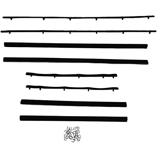 - Steel Rubber Products 970466 Window felt weatherstrip for 1963-65 B Body Conv 81-0012-57