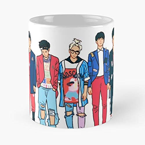 Shinee Shawol Taemin Lee - 11 Oz Coffee Mugs Unique Ceramic Novelty Cup, The Best Gift For Halloween.