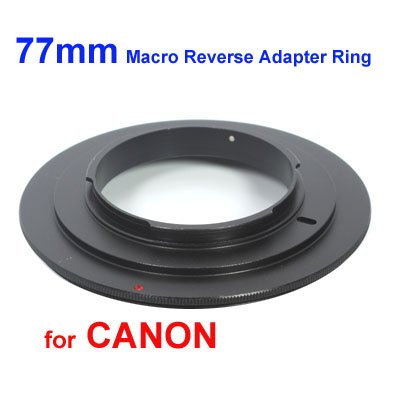 Reverse Ring Macro (77mm Macro Reverse Adapter Ring for Canon EOS EF/EF-S Mount)
