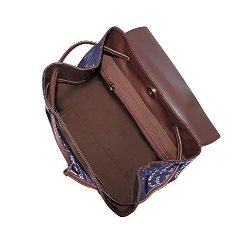 Kvinnor PU-läder programvara binärt system ryggsäck handväska resa skola axelväska ledig dagväska