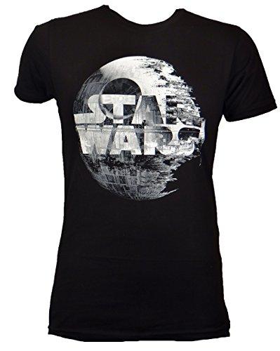 Star Wars Death Star Logo T-shirt (Medium, Black CCS) (Star Wars Death Star Pro Galaxy Projector Silver)