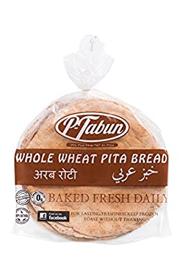 P-Tabun Whole Wheat Pita Bread - 6 Pcs