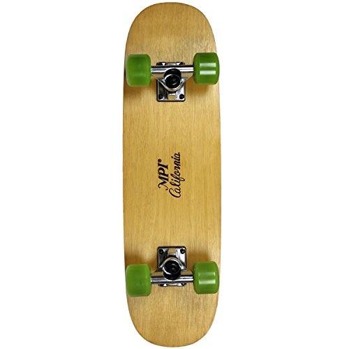 Reverse Camber (MPI Vintage NOS 1970S Old School Wood Reverse Camber Skateboard Complete, 7.75