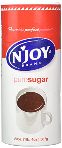 Sugar Canister - Njoy Sugar, 20 Oz. Canisters, Pack Of 3