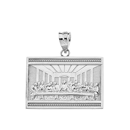 - 925 Sterling Silver The Last Supper of Jesus with His Disciples Pendant