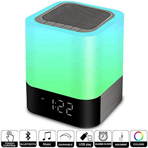 Alarm Clocks for Bedrooms, Hetyre Wireless Bluetooth Speaker