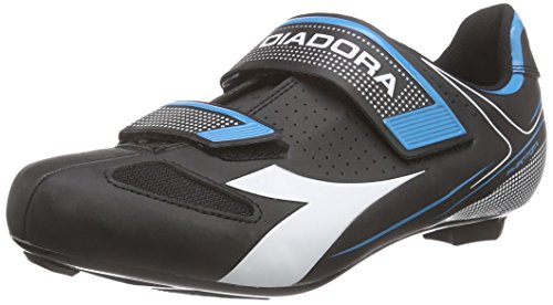 Diadora Phantom Ii - Zapatillas de ciclismo de carretera Unisex adulto Negro - Schwarz (black/white/blue fluo5193)