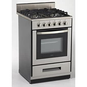 Avanti DG2450SS-1 24-Inch  Gas Range Sealed Burners, Stainless Steel
