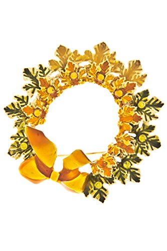 Edwardian Costumes Amazon (THE JEWEL RACK THANKSGIVING WREATH BROOCH)