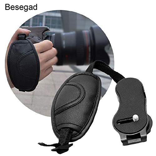 HAMISS Besegad Novelty Artificial Leather Wrist Hand Grip Strap Belt for Sony Canon Nikon Fuji Pentax Camera SLR DSLR Accessories