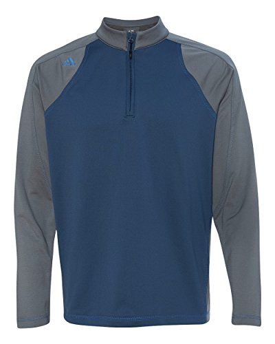 adidas Golf Men's ClimaWarm 3-Stripes Color Block 1/4-Zip Training Top (Pullover Adidas Quarter Zip)