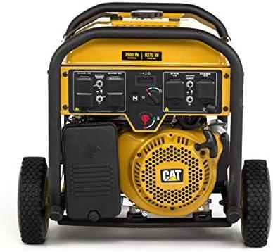 Cat RP7500E Gas Powered Portable Generator with Electric Start – 7500 Running Watts 9375 Starting Watts 490-6491