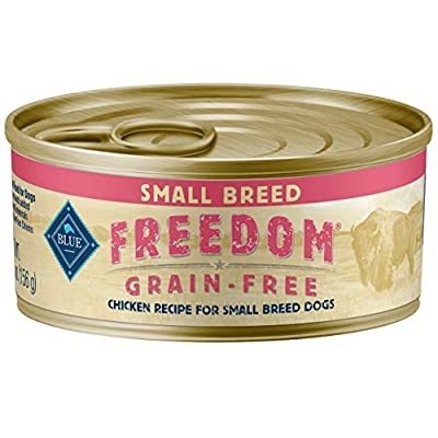 Blue Buffalo Freedom Grain Free Natural Adult Small Breed Wet Dog Food, Chicken 5.5oz cans (Pack of 24)