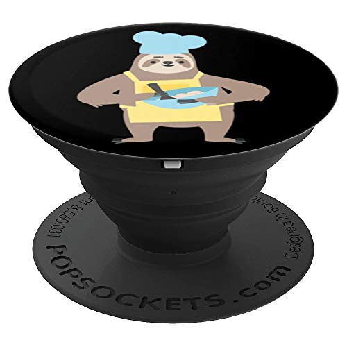 Funny Sloth Popsocket - Funny Sloth Pop Socket - Chef - PopSockets Grip and Stand for Phones and Tablets