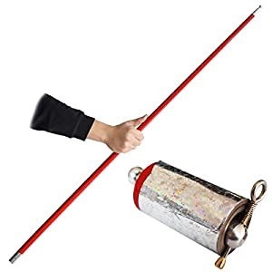 OUERMAMA 150CM Metal Appearing Cane with Video Tutorial - Stage Magic Trick