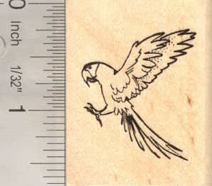 Macaw parrot rubber stamp bird in flight arts for Rubber stamps arts and crafts