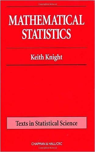 Amazon mathematical statistics chapman hallcrc texts in mathematical statistics chapman hallcrc texts in statistical science 1st edition fandeluxe Choice Image
