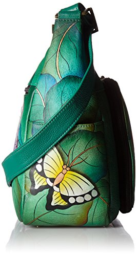 summer Hobo Women'S Anna Hand Organizer Smw Anuschka Wings Painted Leather P8IYq8vw