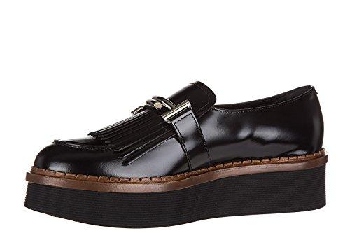 Tod's slip on donna in pelle sneakers nuove originali t50 nero