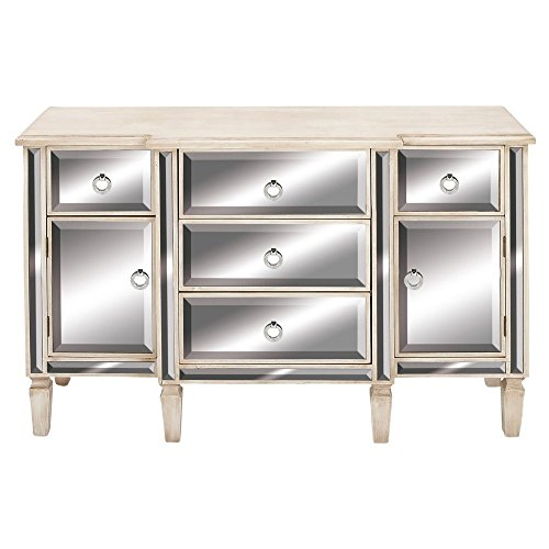 Deco 79 56688 Wooden Mirror Cabinet, Reflective by Deco 79